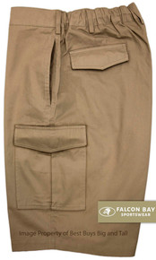 Khaki Falcon Bay Cargo Shorts Expandable Waist