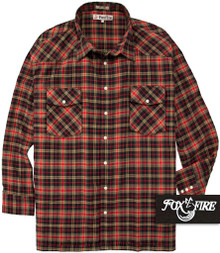 Tan Foxfire Western Flannel Shirt