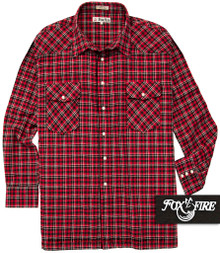 Red Plaids  Foxfire Western Flannel Shirt