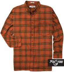 big men clothing Tan Spice Flannel Shirt 3X