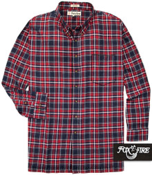 navy plaids Foxfire Soft Flannel Shirt