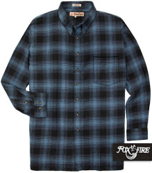 blue plaids Foxfire Soft Flannel Shirt