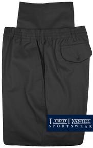 LD Sport Casual Twill Pants - Full Elastic BLACK