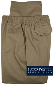 LD Sport Casual Twill Pants - Full Elastic Waist KHAKI