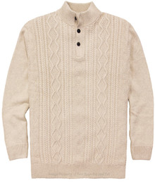 Chaps Cable-Knit Mockneck Sweater