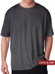 Black Heather UltraClub Lightweight Performance T-Shirt