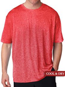 Red Heather UltraClub Lightweight Performance T-Shirt