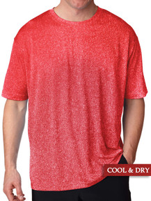 Red Heather UltraClub Lightweight Performance T-Shirt