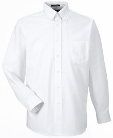White UltraClub Long Sleeve Oxford Shirt