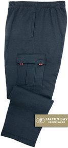 Navy Falcon Bay Big Men's Fleece Cargo Pants