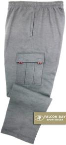 Gray Falcon Bay Big Men's Fleece Cargo Pants