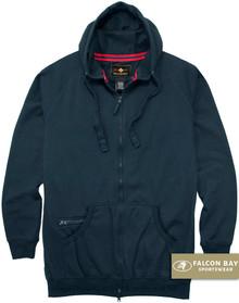Navy Falcon Bay Full Zip Fleece Hoodie