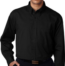 big men's dress shirt black