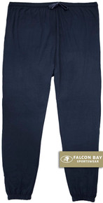 Navy Falcon Bay 100% Cotton Jersey Pants