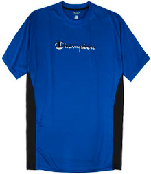 Blue Champion Printed Performance T-Shirt Pieced