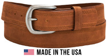 big men's belt triple stitch