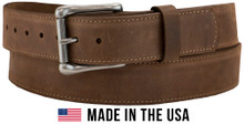 Single stitch leather belt