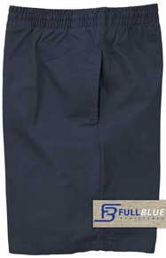 Navy  Pull-On Cotton Shorts Full Elastic Waist by Full Blue