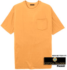 Yellow Cotton Traders Premium Pocket T-Shirt - Better Fit