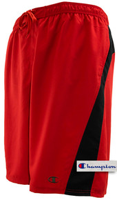 Red Pieced Champion Longer Length Swim Trunks
