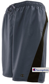 Charcoal pieced Champion Longer Length Swim Trunks