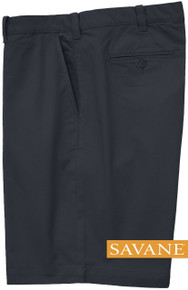 Navy Savane STRETCH FABRIC Casual Twill Shorts