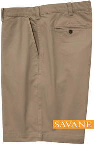 Savane STRETCH FABRIC Casual Twill Shorts KHAKI