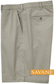Gray Savane STRETCH FABRIC Casual Twill Shorts