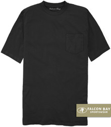 Black Falcon Bay 100% Cotton Pocket T-Shirt