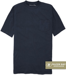 Navy Falcon Bay 100% Cotton Pocket T-Shirt