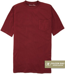 Burgundy Falcon Bay 100% Cotton Pocket T-Shirt