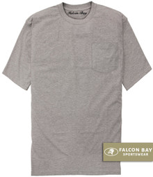 Gray Falcon Bay 100% Cotton Pocket T-Shirt