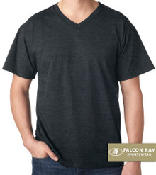 Black Heather Falcon Bay V-Neck T-Shirt