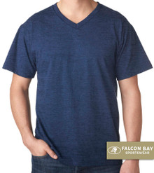 Navy heather Falcon Bay V-Neck T-Shirt
