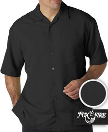 Black Foxfire Casual Cabana Shirt - Relaxed Fit