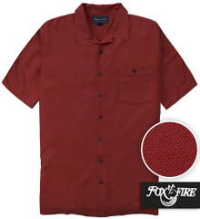 Burgundy Foxfire Casual Cabana Shirt - Relaxed Fit
