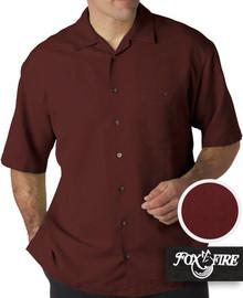 mens xl clothing Burgundy Cabana Shirt 6X