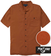Brown Foxfire Casual Cabana Shirt - Relaxed Fit