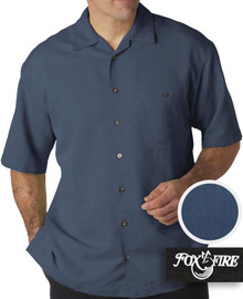 Navy Foxfire Casual Cabana Shirt - Relaxed Fit
