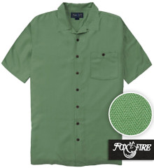 Olive Green Foxfire Casual Cabana Shirt - Relaxed Fit