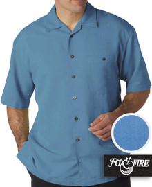 Marine Blue Foxfire Casual Cabana Shirt - Relaxed Fit