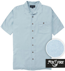 Light Blue Foxfire Casual Cabana Shirt - Relaxed Fit