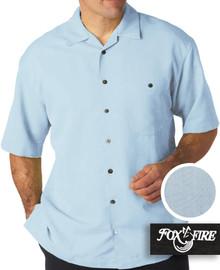 mens xl clothing Light Blue Cabana Shirt 2XLT