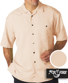 Foxfire Casual Cabana Shirt - Relaxed Fit 3XL - 6XL 2XLT - 6XLT LINEN #478H