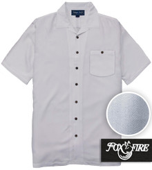 White Foxfire Casual Cabana Shirt - Relaxed Fit