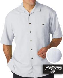 mens xl clothing White Cabana Shirt 4XLT