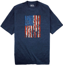 Heather Blue NewportXL Printed T-Shirt AMERICAN FLAG