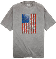 Heather Gray NewportXL Printed T-Shirt AMERICAN FLAG