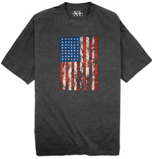 Charcoal NewportXL Printed T-Shirt AMERICAN FLAG