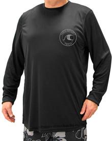 Black H2O Sport Tech Long Sleeve Swim Shirt